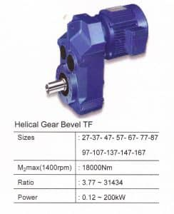HELICAL GEARBOX TYPE TF