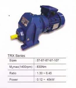 HELICAL GEARBOX TYPE TRX